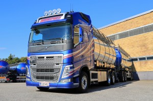 New Volvo FH Tank Truck By A Warehouse